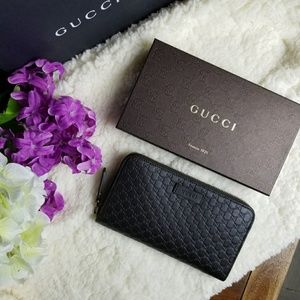 NWT Gucci Wallet Dark Brown Microguccissima Leathe